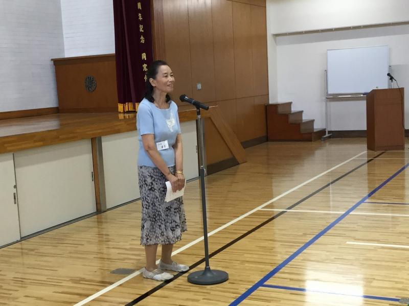 同窓会会長 梅原さん(54回卒)