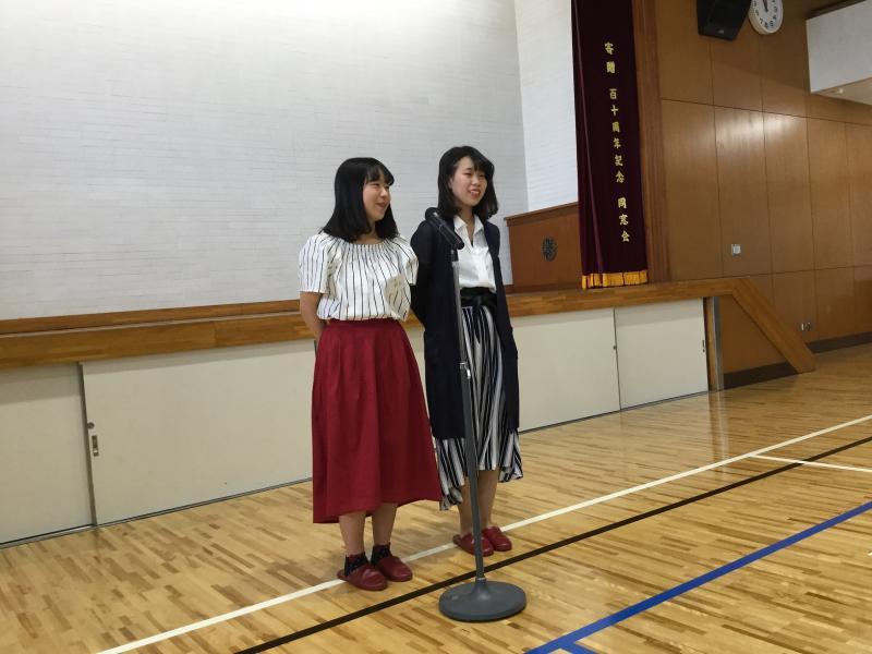 111回卒代表 鈴木さんと庭野さんの挨拶