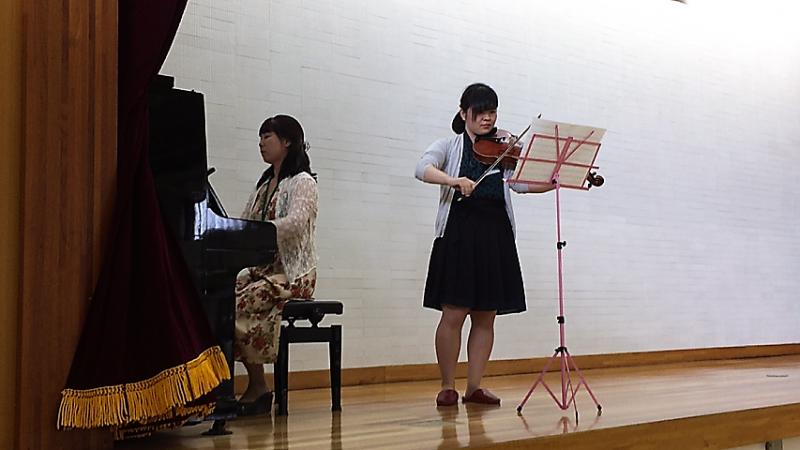 108回卒小川さんと鈴木先生の演奏