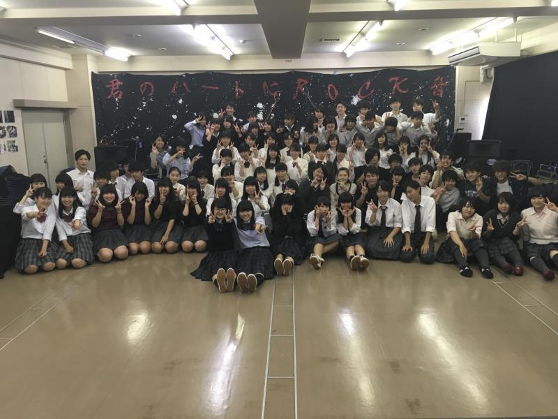 葛飾商業高校での合同ライブ